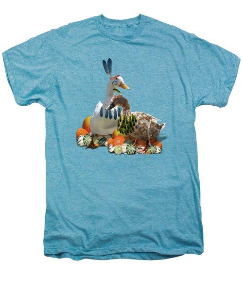 Thanksgiving Indian Ducks Men's Premium T-Shirt