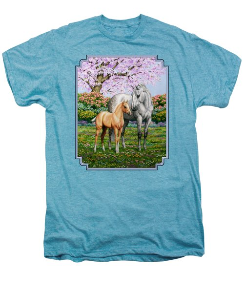 Spring's Gift - Mare And Foal Men's Premium T-Shirt