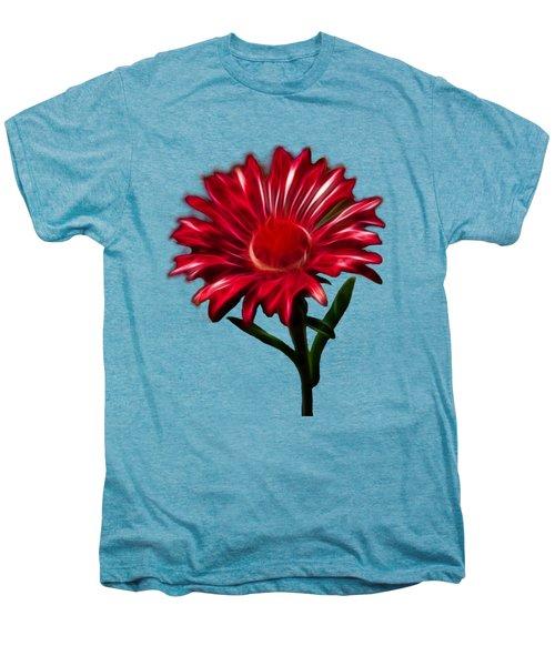 Red Daisy Men's Premium T-Shirt by Shane Bechler