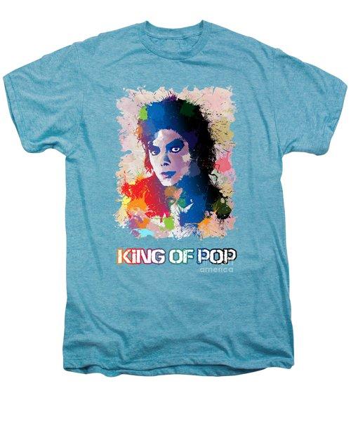 King Of Pop Men's Premium T-Shirt by Anthony Mwangi