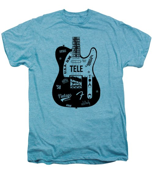 Fender Telecaster 58 Men's Premium T-Shirt by Mark Rogan