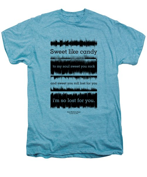 Lyrics Music Waveform Poster Men's Premium T-Shirt by Lab No 4 - The Quotography Department