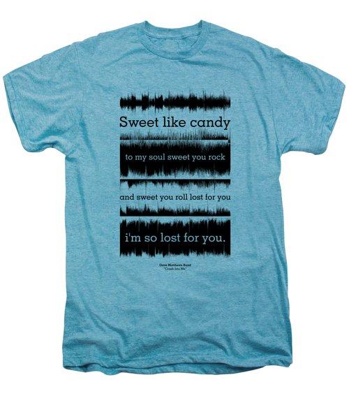Lyrics Music Waveform Poster Men's Premium T-Shirt