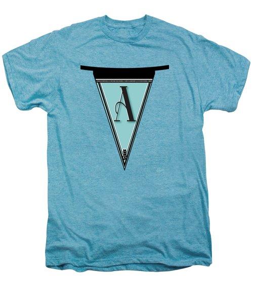 Pennant Deco Blues Banner Initial Letter A Men's Premium T-Shirt