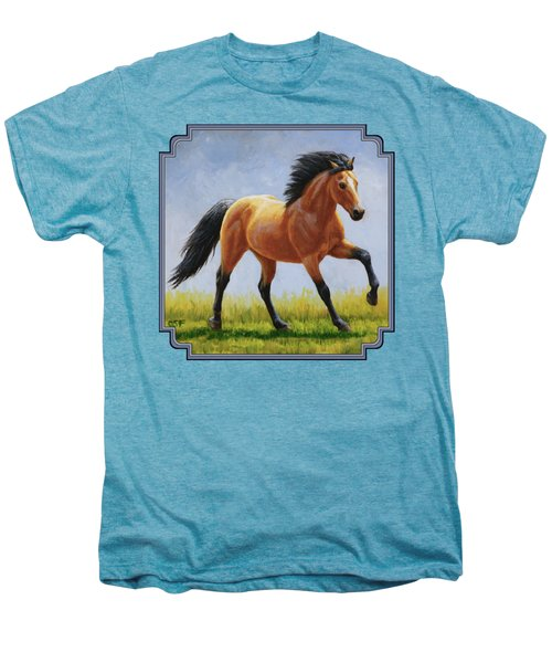 Buckskin Horse - Morning Run Men's Premium T-Shirt