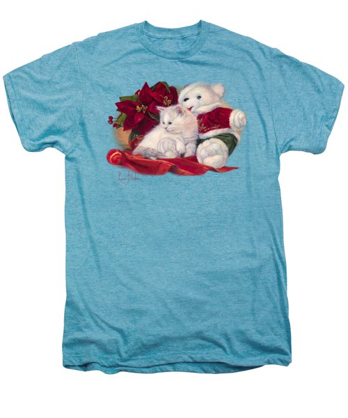Christmas Kitten Men's Premium T-Shirt by Lucie Bilodeau