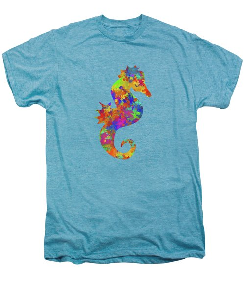 Seahorse Watercolor Art Men's Premium T-Shirt