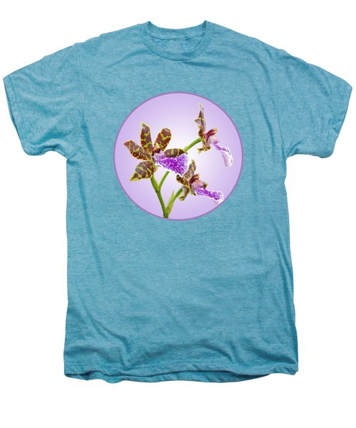 Bold And Beautiful - Zygopetalum Orchid Men's Premium T-Shirt by Gill Billington