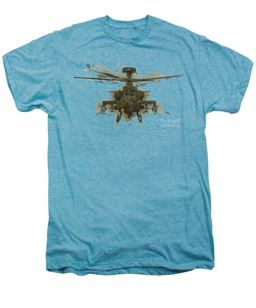 Apache Helicopter Abstract Men's Premium T-Shirt