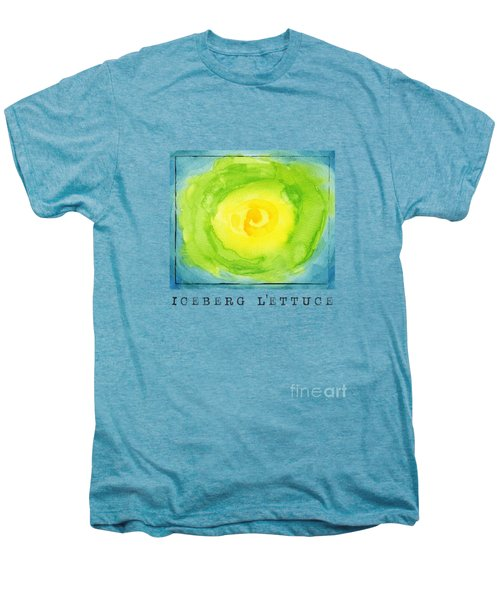 Abstract Iceberg Lettuce Men's Premium T-Shirt by Kathleen Wong