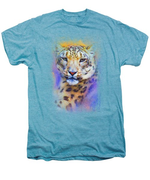 Colorful Expressions Snow Leopard Men's Premium T-Shirt by Jai Johnson