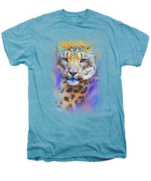 Colorful Expressions Snow Leopard Men's Premium T-Shirt