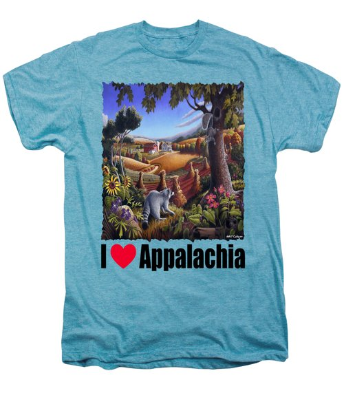 I Love Appalachia - Coon Gap Holler Country Farm Landscape 1 Men's Premium T-Shirt by Walt Curlee