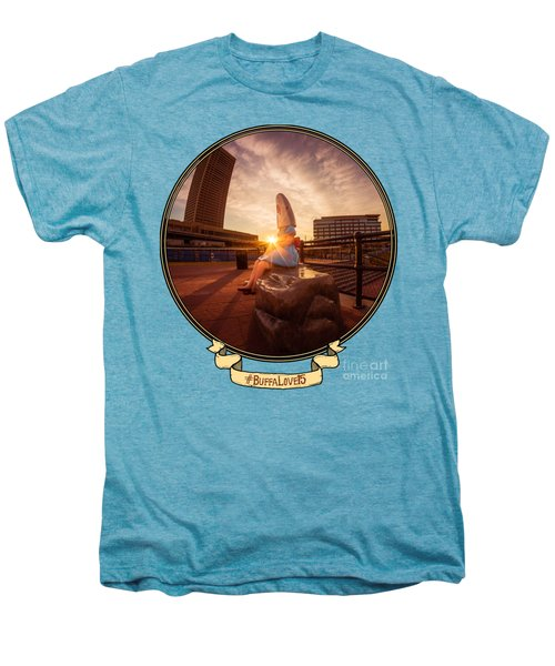 Shark Girl Dawn - Horizontal Men's Premium T-Shirt by Chris Bordeleau