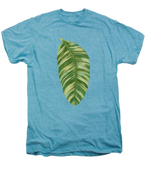 Rainforest Resort - Tropical Leaves Elephant's Ear Philodendron Banana Leaf Men's Premium T-Shirt by Audrey Jeanne Roberts