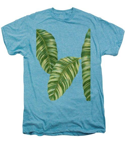 Rainforest Resort - Tropical Banana Leaf  Men's Premium T-Shirt by Audrey Jeanne Roberts