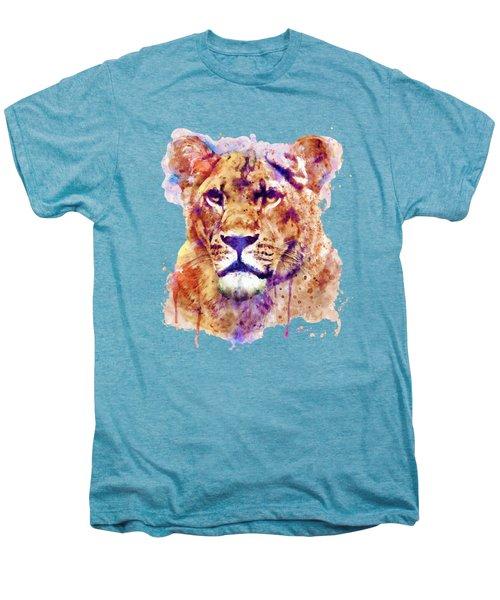 Lioness Head Men's Premium T-Shirt by Marian Voicu