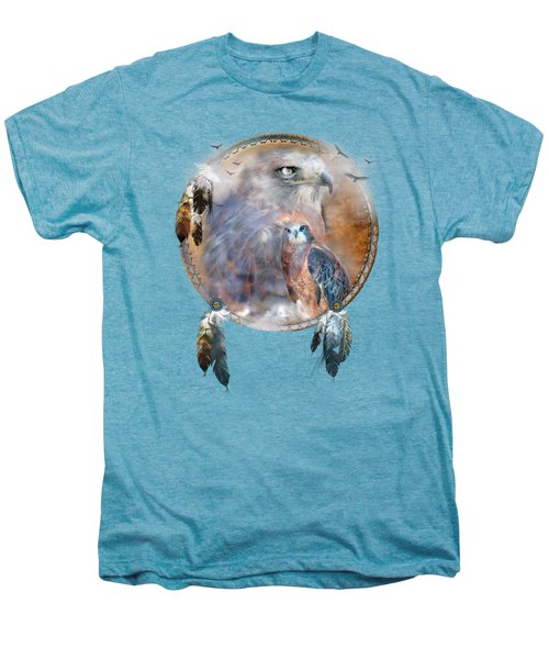 Dream Catcher - Hawk Spirit Men's Premium T-Shirt by Carol Cavalaris