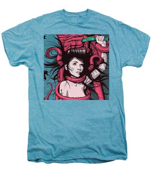Mermaid Dying - Custom Longboard Men's Premium T-Shirt by Razvan Socol