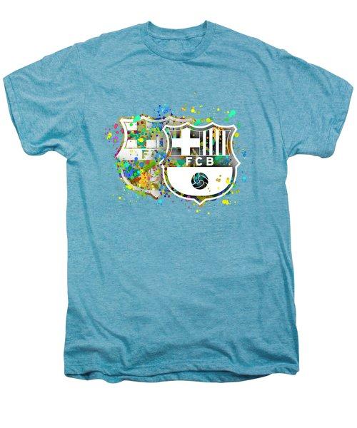 Tribute To F C Barcelona 7 Men's Premium T-Shirt by Alberto RuiZ