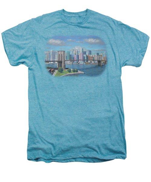 New York Brooklyn Bridge Men's Premium T-Shirt by Renato Maltasic