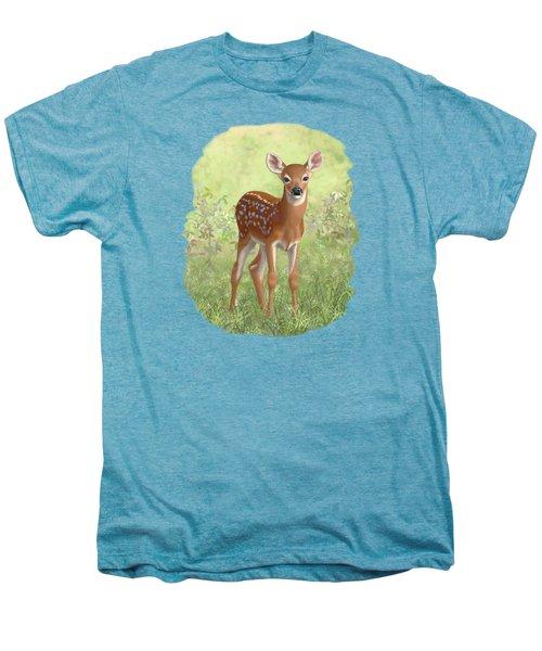 Cute Whitetail Deer Fawn Men's Premium T-Shirt by Crista Forest