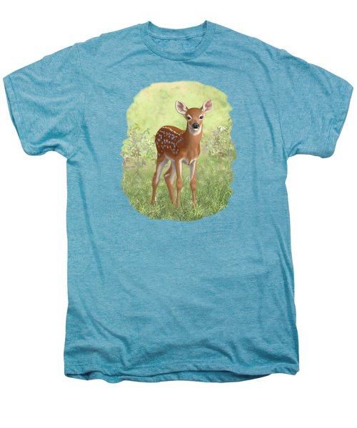 Cute Whitetail Deer Fawn Men's Premium T-Shirt