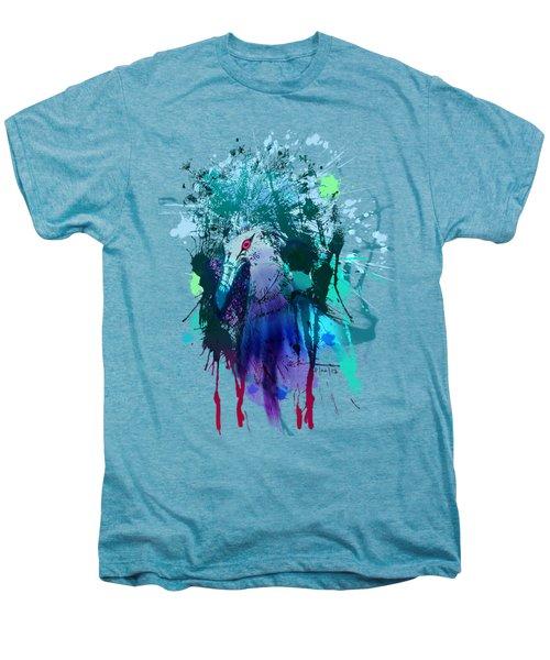 Victoria Crowned Pigeon Men's Premium T-Shirt by Clinton Caleb