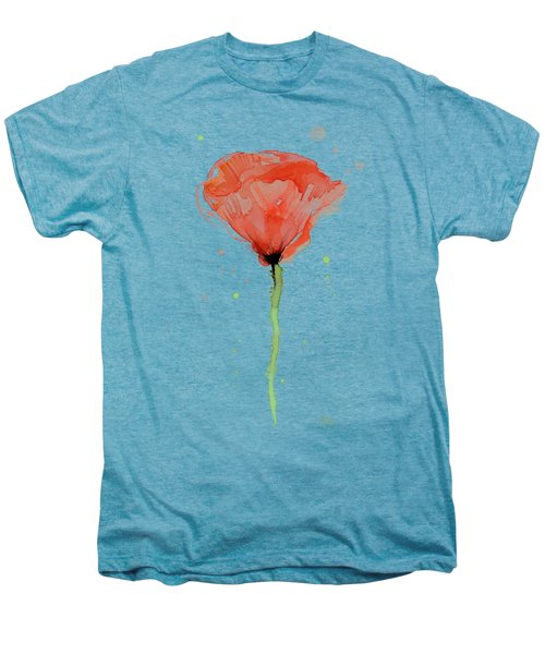 Abstract Red Poppy Watercolor Men's Premium T-Shirt