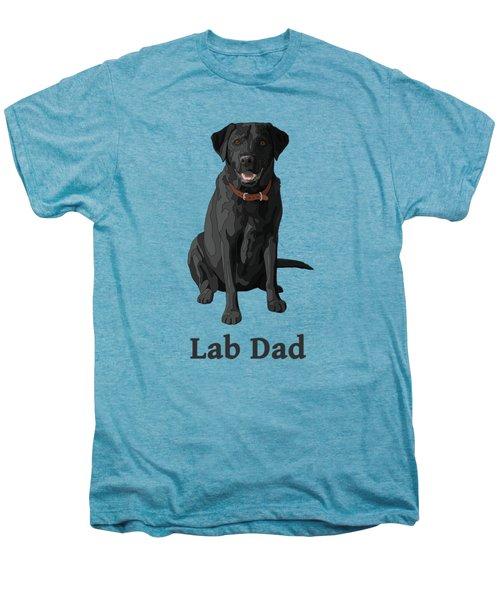 Black Labrador Retriever Lab Dad Men's Premium T-Shirt by Crista Forest