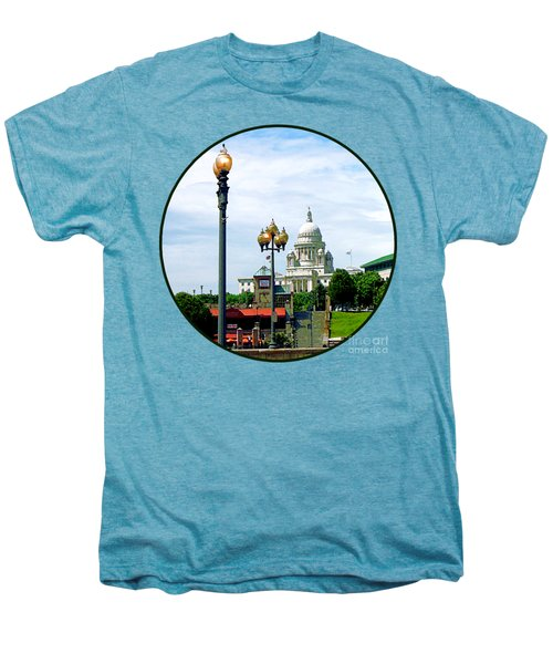 Capitol Building Seen From Waterplace Park Men's Premium T-Shirt by Susan Savad