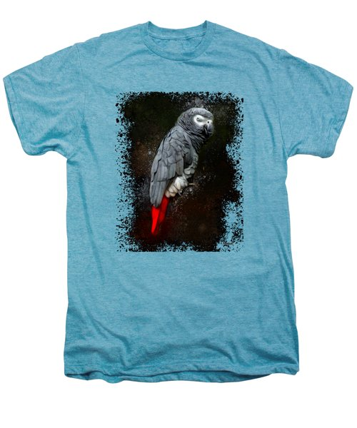 African Grey Parrot  Men's Premium T-Shirt