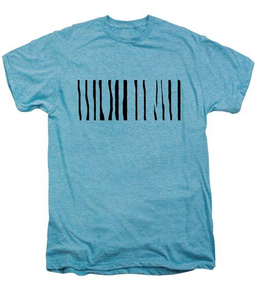 Organic No 12 Black And White Line Abstract Men's Premium T-Shirt