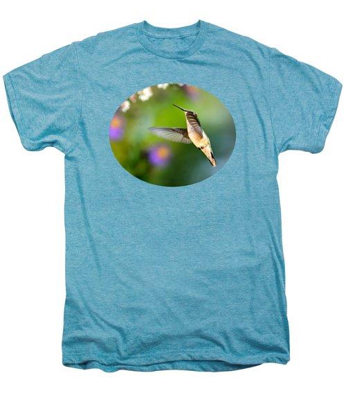 Garden Hummingbird Men's Premium T-Shirt by Christina Rollo