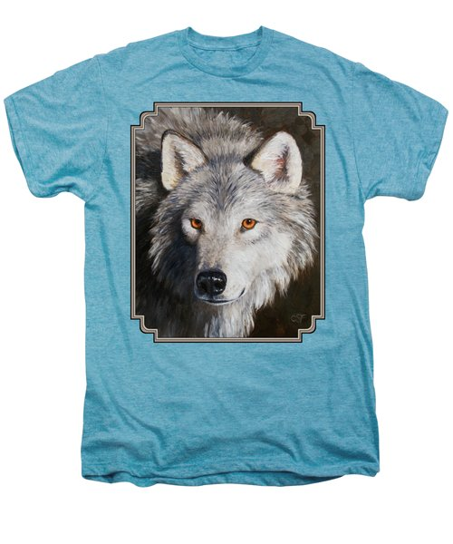 Wolf Portrait Men's Premium T-Shirt by Crista Forest