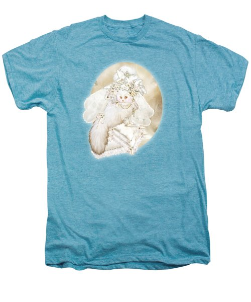 Cat In Fancy Bridal Hat Men's Premium T-Shirt by Carol Cavalaris