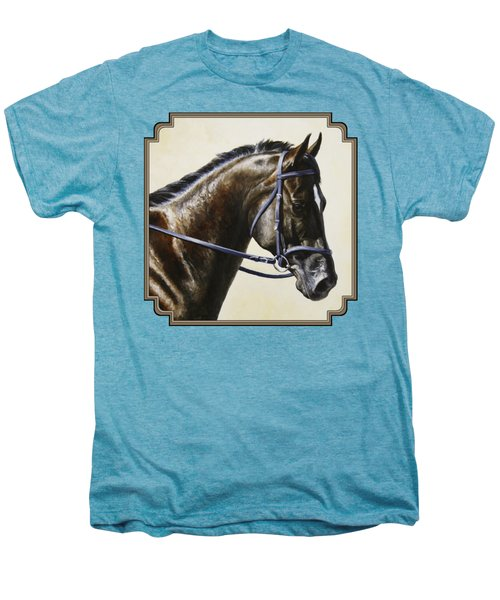 Dressage Horse - Concentration Men's Premium T-Shirt by Crista Forest