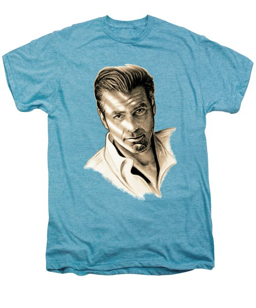 George Clooney Men's Premium T-Shirt by Gitta Glaeser