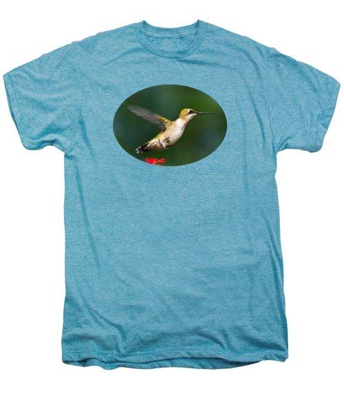 Summer Hummingbird Men's Premium T-Shirt by Christina Rollo