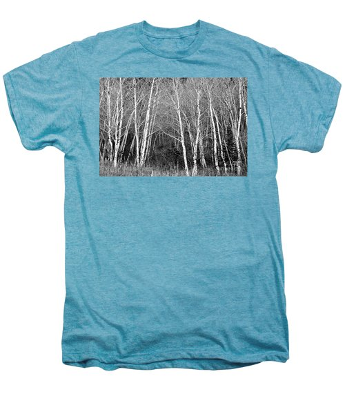 Aspen Forest Black And White Print Men's Premium T-Shirt