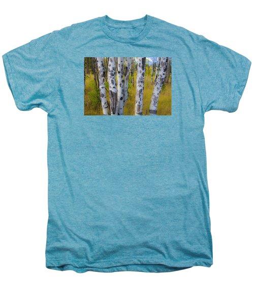 Men's Premium T-Shirt featuring the photograph Aspens by Gary Lengyel