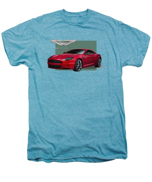 Aston Martin  D B S  V 12  With 3 D Badge  Men's Premium T-Shirt by Serge Averbukh