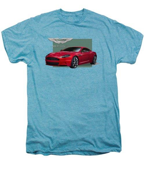 Aston Martin  D B S  V 12  With 3 D Badge  Men's Premium T-Shirt