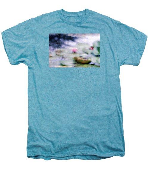 Men's Premium T-Shirt featuring the photograph At Claude Monet's Water Garden 12 by Dubi Roman