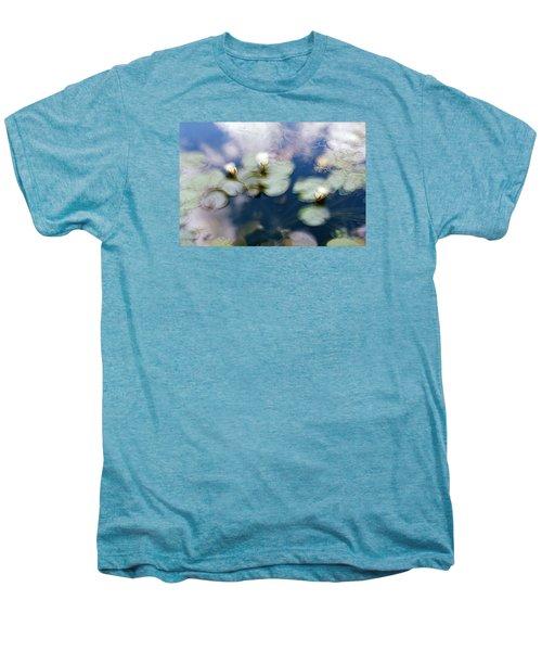 At Claude Monet's Water Garden 4 Men's Premium T-Shirt by Dubi Roman