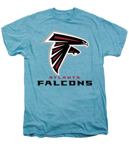 Atlanta Falcons On An Abraded Steel Texture Men's Premium T-Shirt