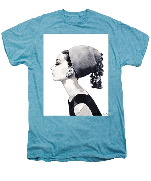 Audrey Hepburn For Vogue 1964 Couture Men's Premium T-Shirt by Laura Row