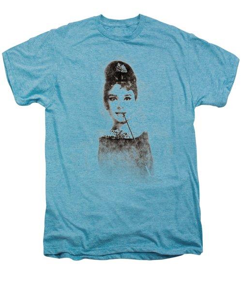 Audrey Hepburn Portrait 01 Men's Premium T-Shirt by Pablo Romero