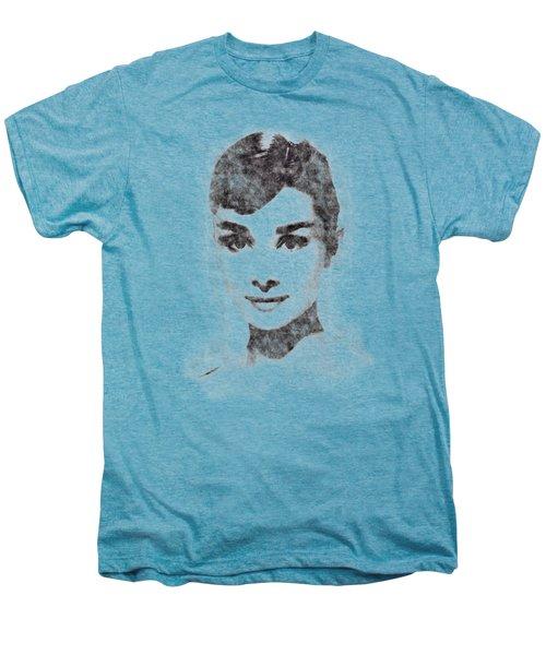 Audrey Hepburn Portrait 02 Men's Premium T-Shirt by Pablo Romero