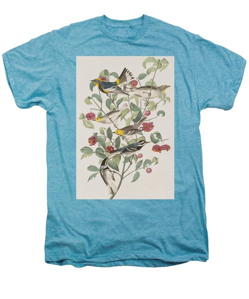 Audubons Warbler Hermit Warbler Black-throated Gray Warbler Men's Premium T-Shirt by John James Audubon